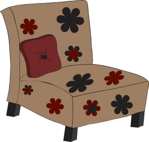 clip_art_illustration_of_a_chair_with_a_flower_pattern_0515-0811-2017-1316_SMU